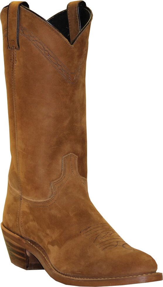 Abilene Men's Pull-On Western Boots - Medium Toe, Dirty Brn, hi-res