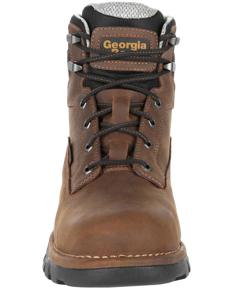 Georgia Boot Men's Eagle One Waterproof Work Boots - Soft Toe, Brown, hi-res