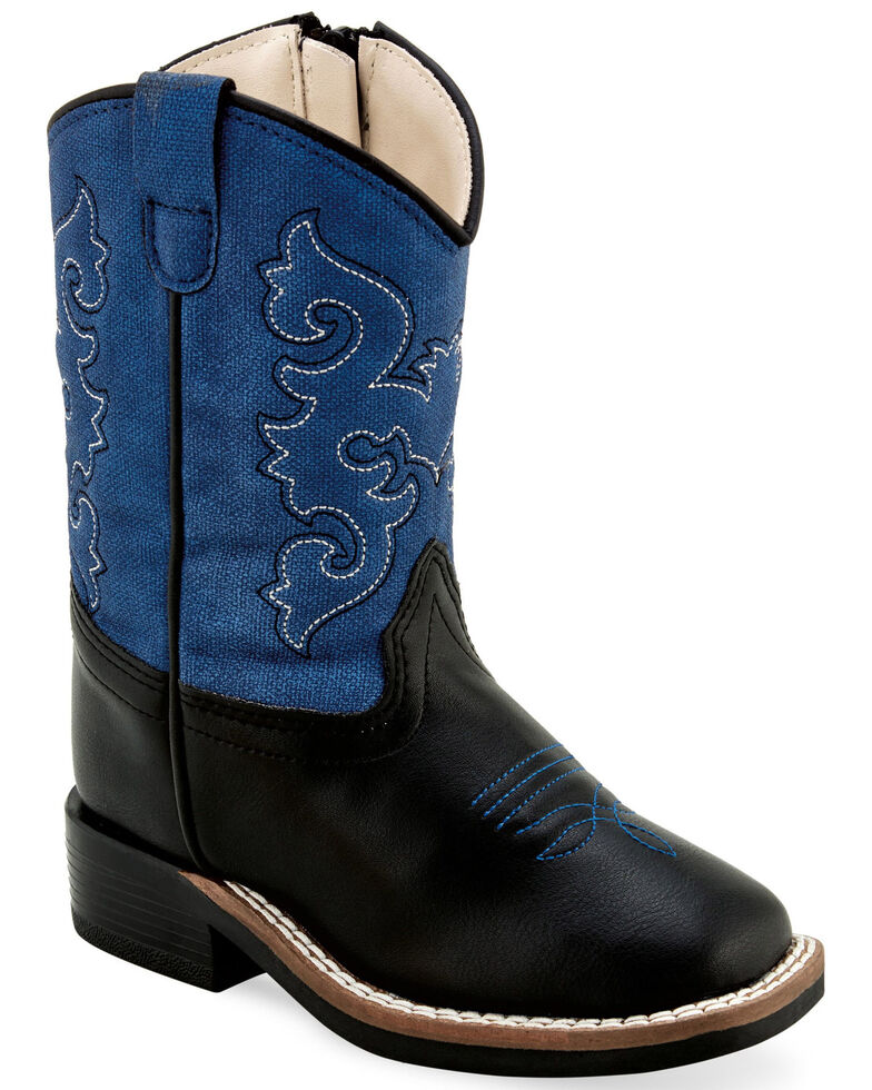 Old West Toddler Boys' Faux Leather Western Boots - Wide Square Toe, , hi-res