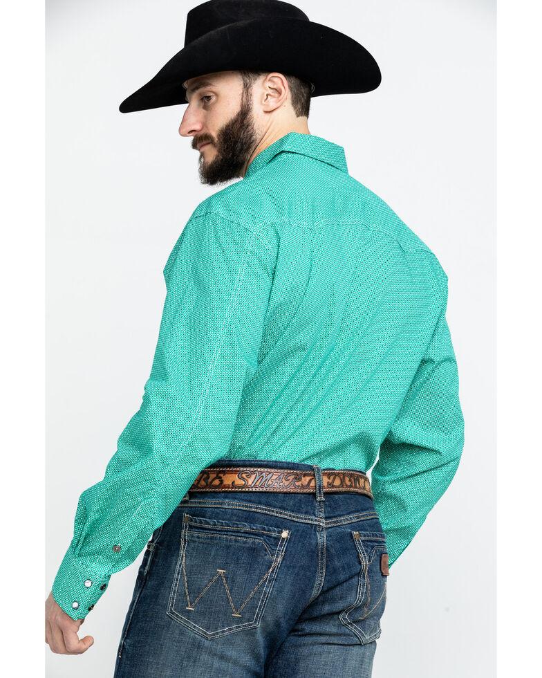Cinch Men's Modern Geo Print Long Sleeve Western Shirt , Green, hi-res