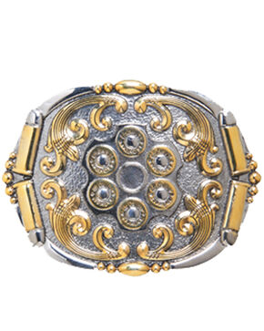 AndWest Men's Two-Tone Revolver Belt Buckle, Multi, hi-res