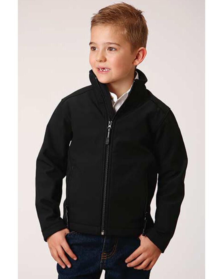 Roper Boys' Black Hi Tech Fleece Softshell Jacket , Black, hi-res