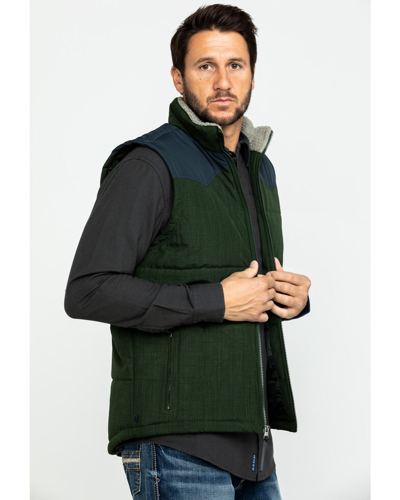 Cody James Core Men's Southerner Two Tone Puffer Vest , Brown, hi-res