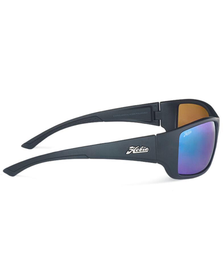 Hobie Men's Everglades Satin Black & Copper Frame Polarized Sunglasses  , Black, hi-res