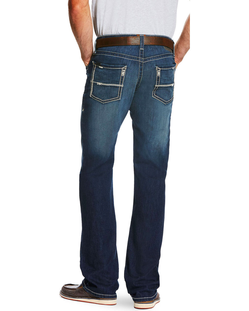 Ariat Men's Blue M5 Cooper Nightfall Stretch Jeans - Straight Leg  , Blue, hi-res