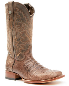 Tanner Mark Men's Nicotine Western Boots - Wide Square Toe, Brown, hi-res