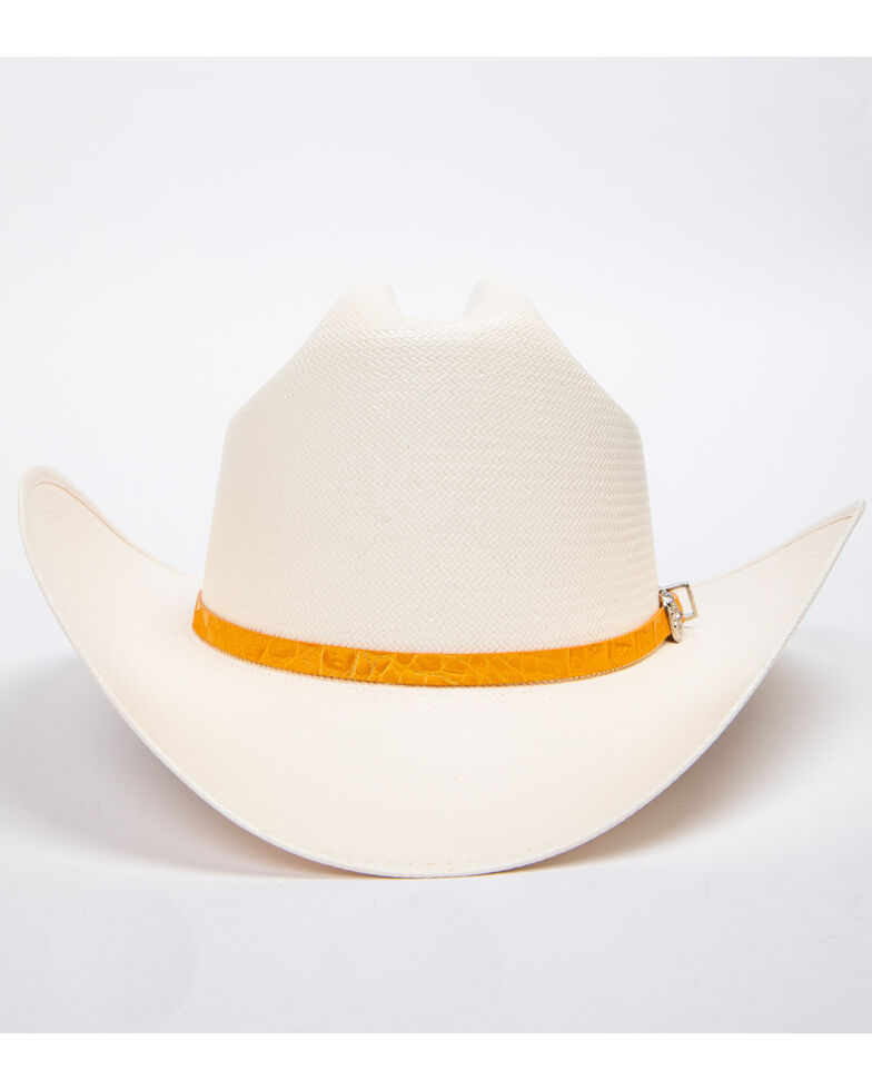 Cody James Men's Panama Faux Gator Buttercup Marlboro Cowboy Hat, Natural, hi-res