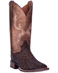 Dan Post Men's Stark Western Boots - Square Toe, Brown, hi-res