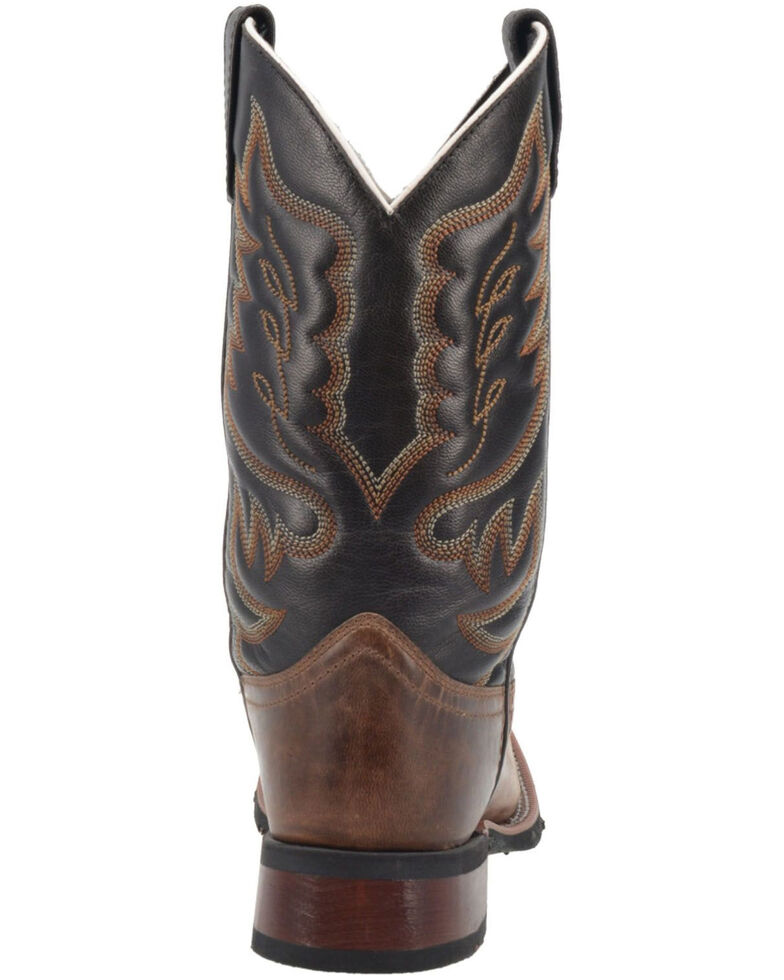 Laredo Men's Montana Western Boots - Wide Square Toe, Brown, hi-res