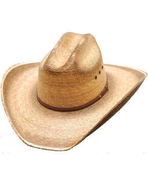 Western Express Men's Cattleman Palm Western Hat, Tan, hi-res