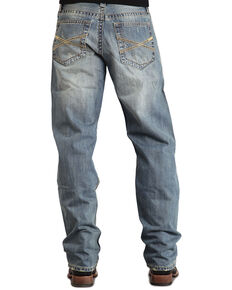 """Stetson 1520 Fit Classic """"X"""" Stitched Jeans - Big & Tall, Med Wash, hi-res"""