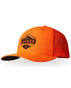 Danner Men's Orange Blaze Mountain Logo Mesh-Back Trucker Cap, Orange, hi-res