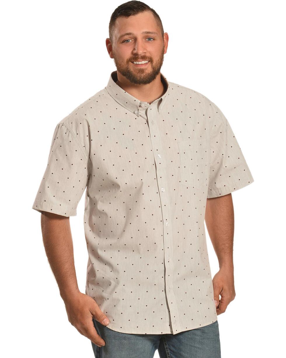 Cody James Men's Palo Alto Diamond Print Short Sleeve Shirt, Grey, hi-res