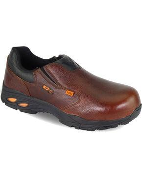 Thorogood Men's I-MET2 Slip On Oxfords - Composite Toe, Brown, hi-res