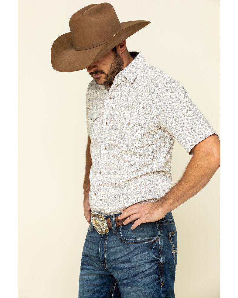 Ely Walker Men's Multi Aztec Geo Print Short Sleeve Western Shirt , Beige/khaki, hi-res