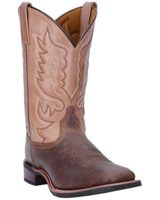 Laredo Men's Montana II Western Boots - Wide Square Toe, Tan, hi-res