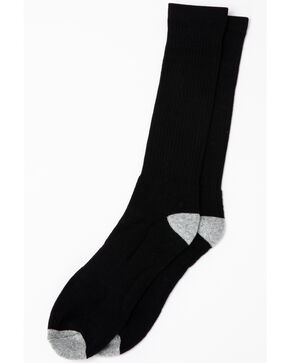 Cody James Men's 3-Pack Solid Boot Socks, Black, hi-res