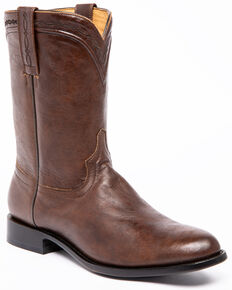 Cody James Men's Batik Caviar Western Boots - Round Toe, Brown, hi-res