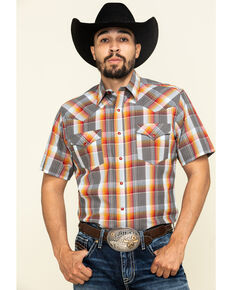Tin Haul Men's Rusty Plaid Short Sleeve Western Shirt , Multi, hi-res