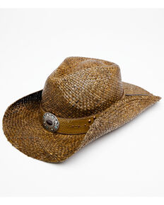 Shyanne Women's Natural Jane Raffia Straw Western Hat , Natural, hi-res