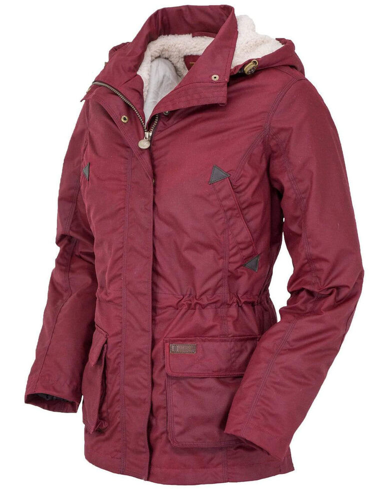 Outback Trading Co. Women's Berry Adelaide Oilskin Jacket - Plus, Red, hi-res