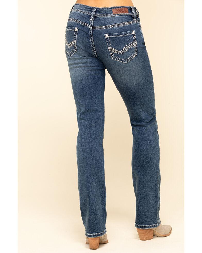 Rock & Roll Denim Women's Medium Boyfriend Straight Jeans, Blue, hi-res