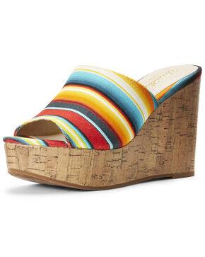 Ariat Women's Unbridled Layla Serape Sandals, Multi, hi-res