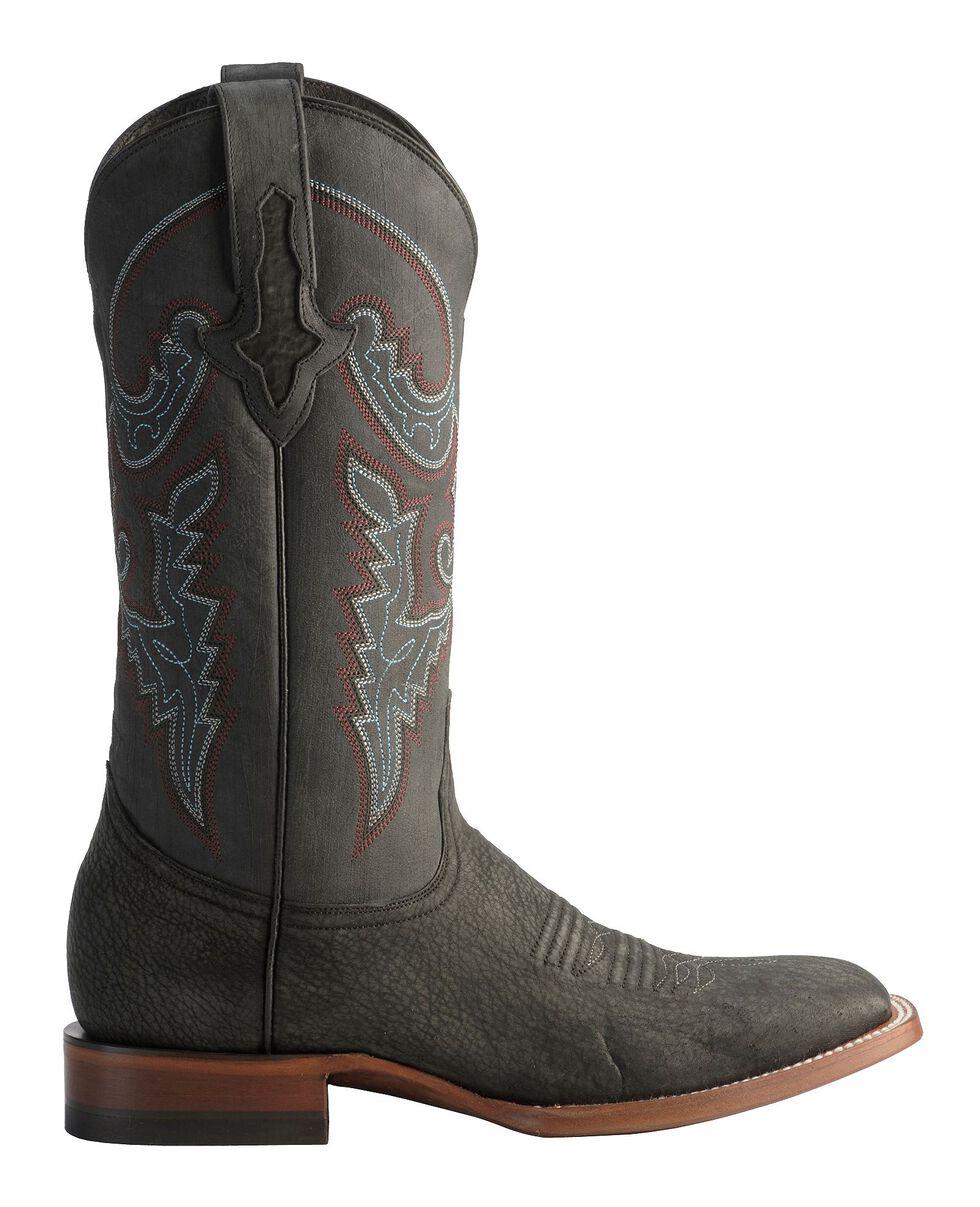 Lucchese 1883 Handmade Horseman Sanded Shark Cowboy Boots - Square Toe, Black, hi-res