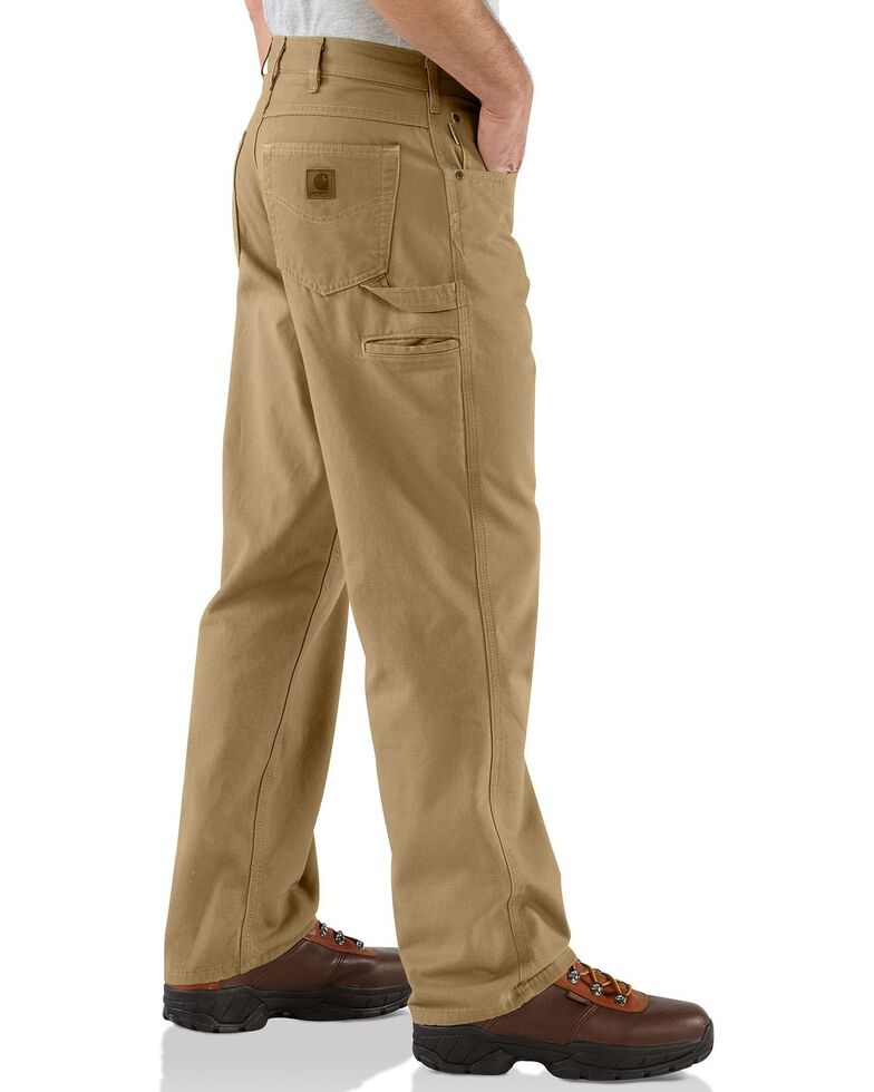 Carhartt Loose Fit Canvas Carpenter Five Pocket Work Pants, Khaki, hi-res