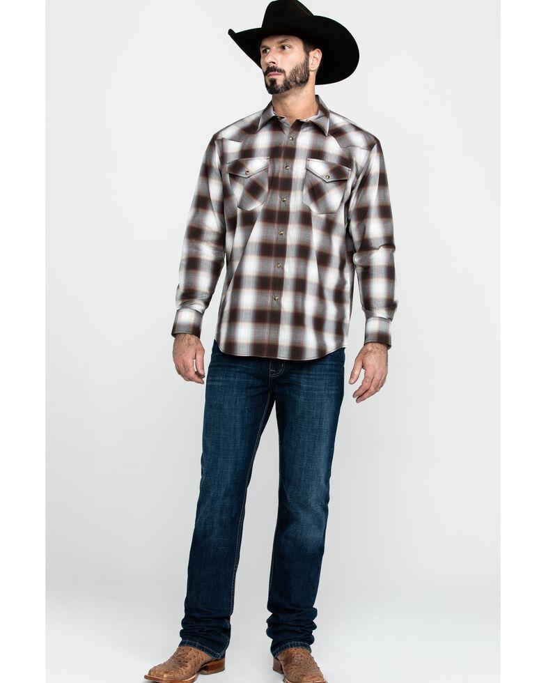 Pendleton Men's Frontier Long Sleeve Plaid Shirt , Brown, hi-res
