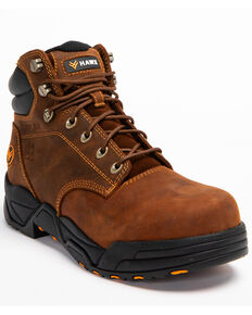 Hawx Men's Brown Enforcer Lace-Up Work Boots - Composite Toe, Brown, hi-res