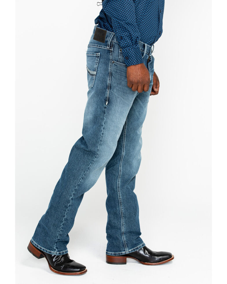 Ariat Men's Relentless Remuda Kentucky Classic Stitch Bootcut Jeans, Indigo, hi-res