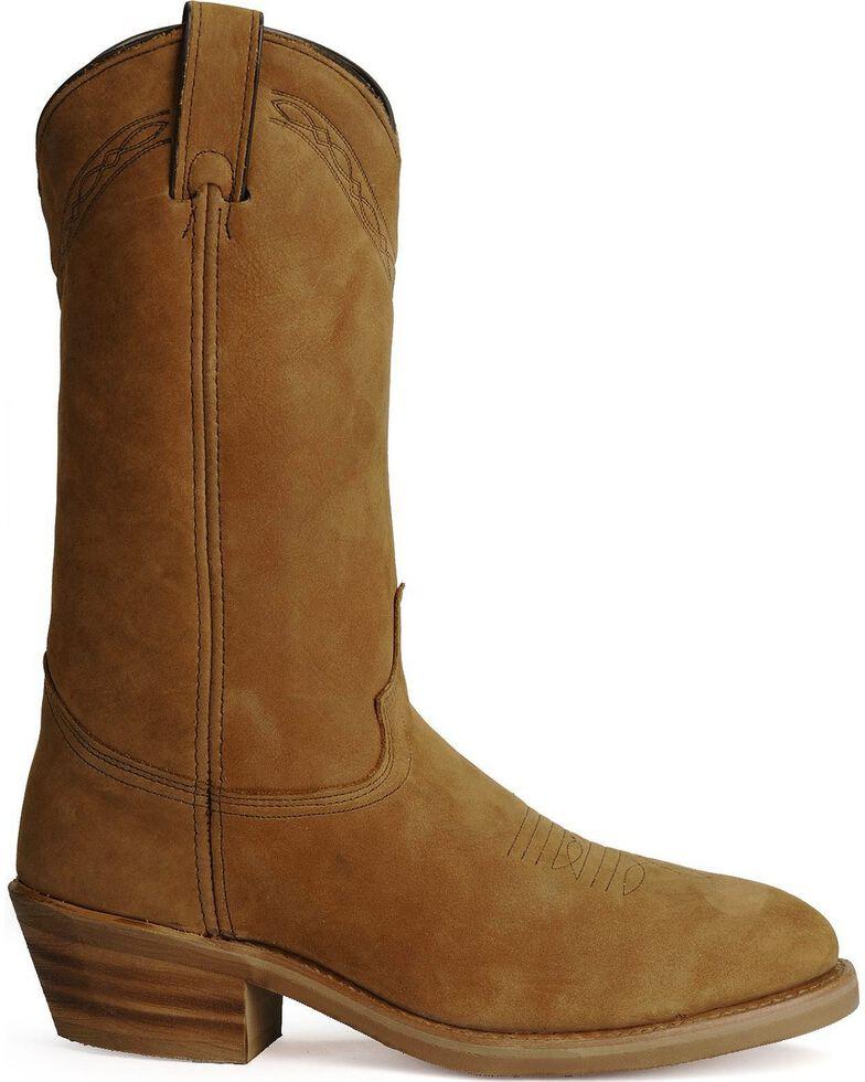 Abilene Cowboy Work Boots - Steel Toe, Dirty Brn, hi-res