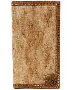 Ariat Men's Hair-On Trifold Wallet, Medium Brown, hi-res