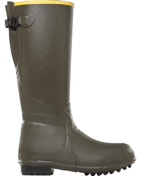 "Lacrosse Men's 18"" Burly Air-Grip 800G Outdoor Boots - Round Toe , Olive, hi-res"