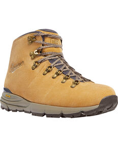 Danner Men's Mountain 600 Suede Hiking Boots - Round Toe, Sand, hi-res