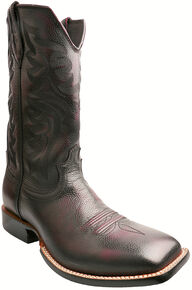 Twisted X Burgundy Red River Cowboy Boots - Square Toe, Burgundy, hi-res