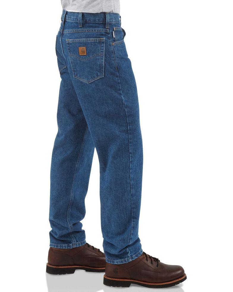 Carhartt Traditional Fit Tapered Leg Work Jeans, Dark Stone, hi-res