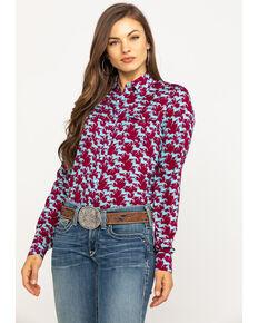 Five Star Women's Stampede Print Long Sleeve Western Shirt, Multi, hi-res