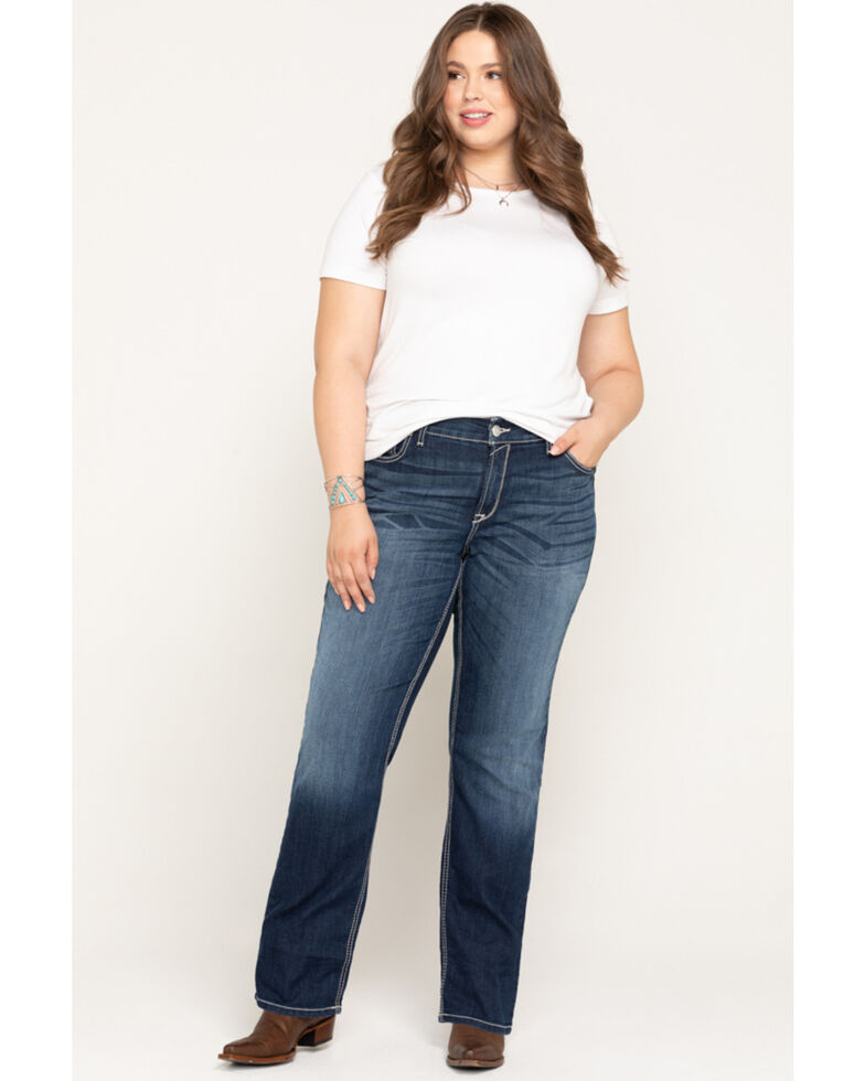 Ariat Women's R.E.A.L. Margot Straight Leg Jeans - Plus, Blue, hi-res
