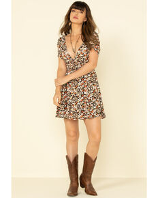 Free People Women's Forget Me Not Mini Dress , Black, hi-res