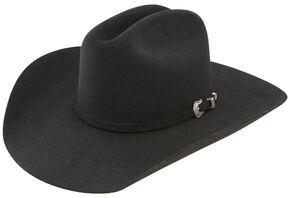 Resistol 5X Challenger Fur Felt Black Cowboy Hat, Black, hi-res