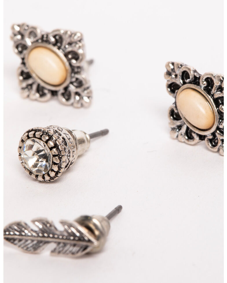 Shyanne Women's Multi-Stud Earring Set, Sand, hi-res