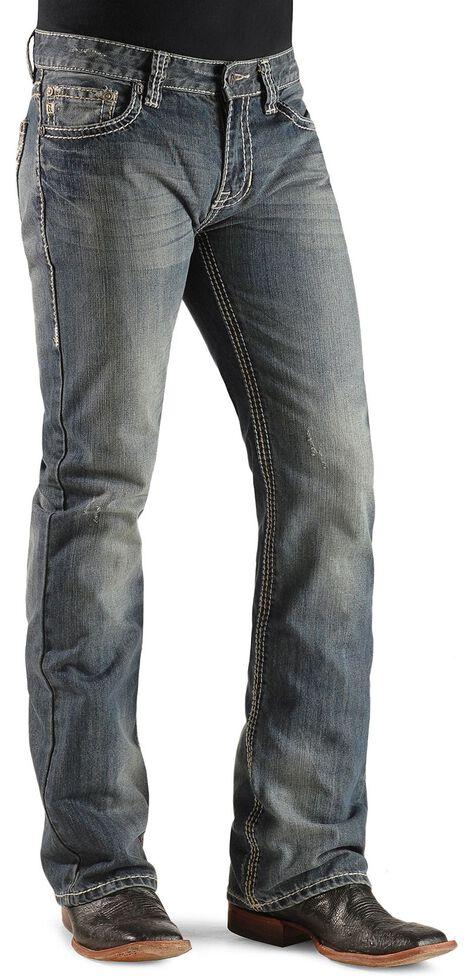 Rock & Roll Denim Men's Pistol Heavy Stitched Bootcut Jeans, Indigo, hi-res