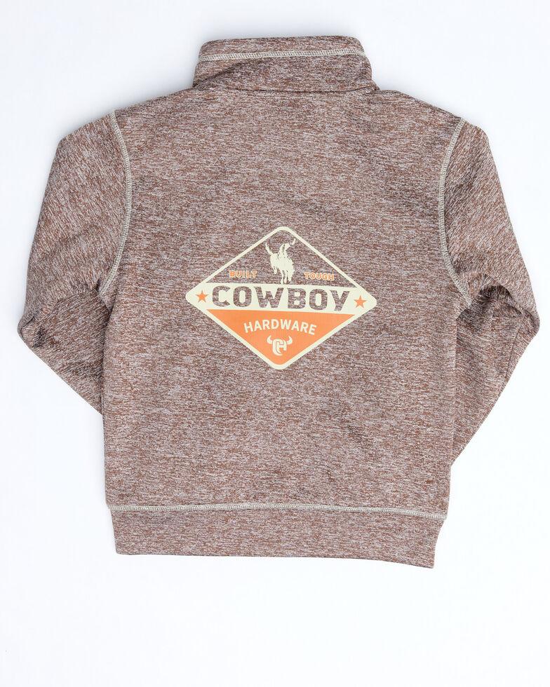 Cowboy Hardware Boys' Brown Zip Marled Jacket , Brown, hi-res