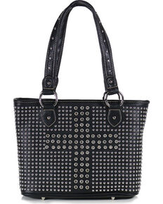 Shyanne Women's Cross Concealed Carry Tote, Black, hi-res