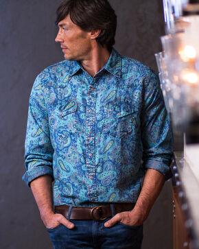 Ryan Michael Men's Indigo Paisley Print Shirt, Indigo, hi-res
