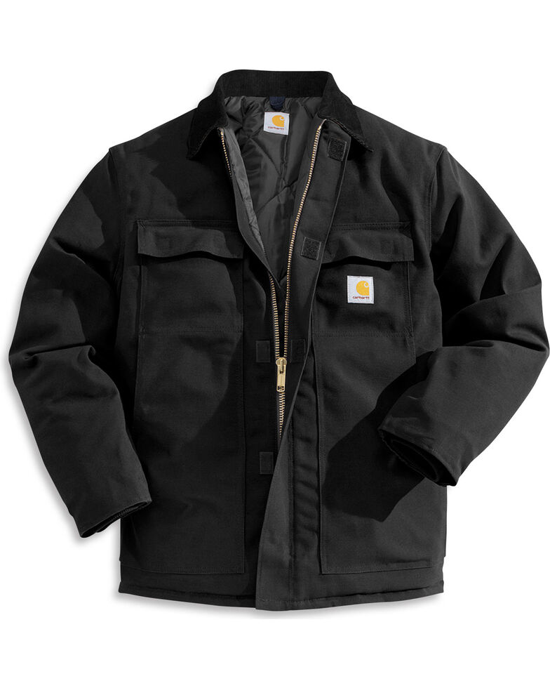 Carhartt Traditional Duck Work Jacket, Black, hi-res