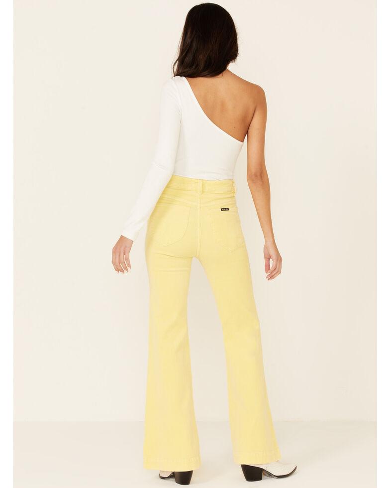 Rolla's Women's Sunflower Eastcoast Flare Leg Jeans, Yellow, hi-res