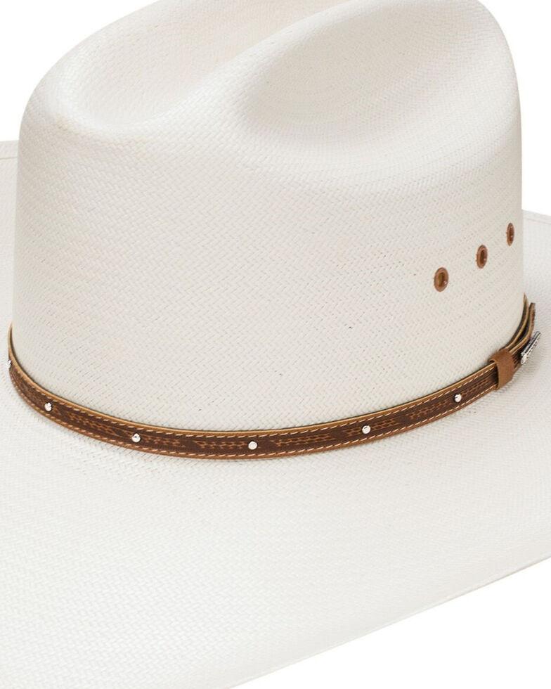 Stetson Men's Stanhope Straw Western Hat, Natural, hi-res
